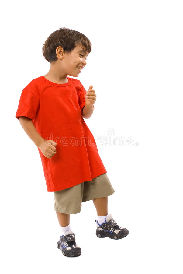 Boy Dancing stock photo