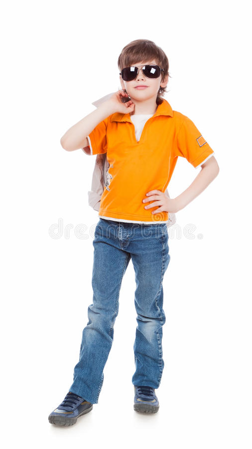 Download Boy in dark glasses stock image. Image of kids, clean - 19483257