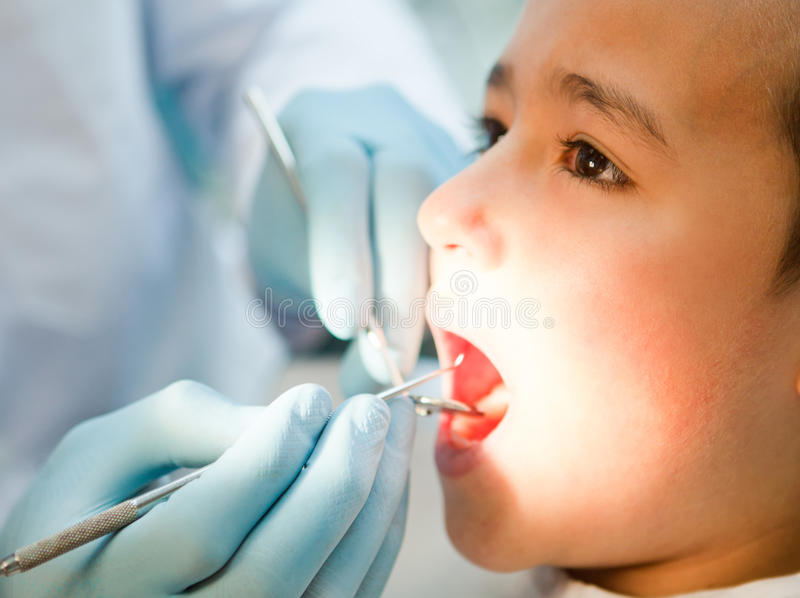 Download Boy at the dentist stock image. Image of hospital, healthcare - 22334277
