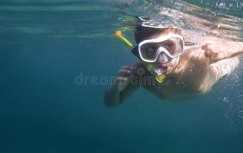 Download Boy Diving With Copy Space Royalty Free Stock Photography - Image: 15251677