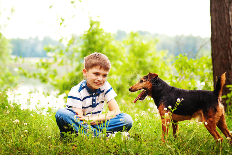 Download Boy And Dog Stock Images - Image: 14925704