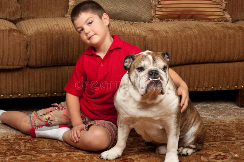 Download Boy and Dog stock photo. Image of puppy, youth, friend - 20339170