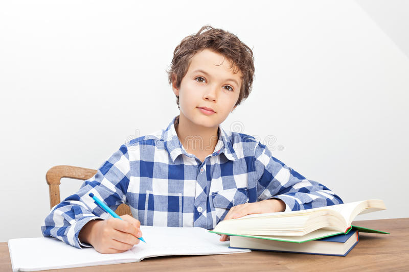 Download A Boy Is Doing His Homework Stock Image - Image: 33474251