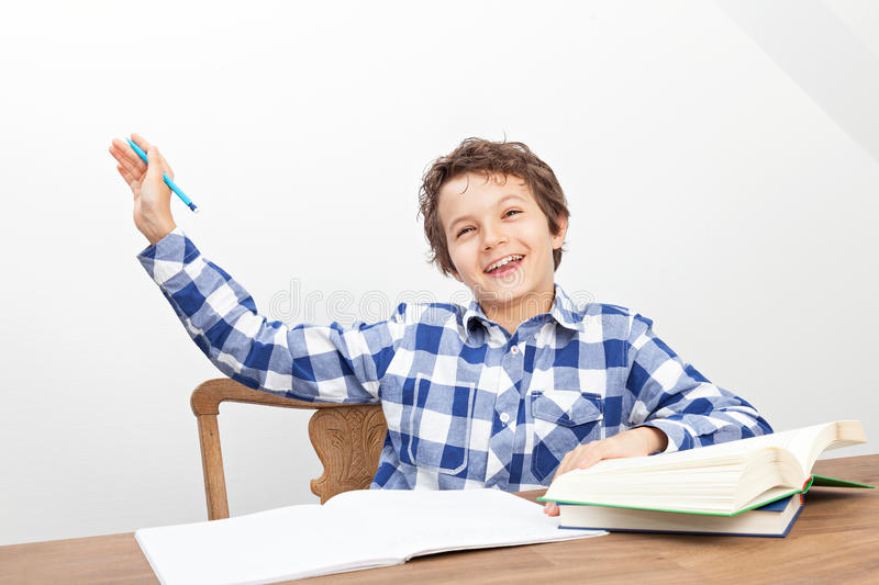 Download A Boy Is Doing His Homework Stock Image - Image: 33474497