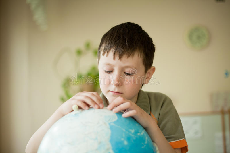 Boy dreamily royalty free stock images