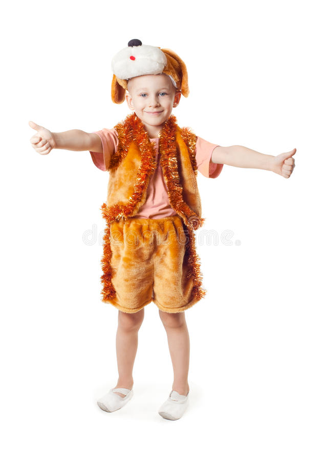 Boy dressed as dogs, royalty free stock photo