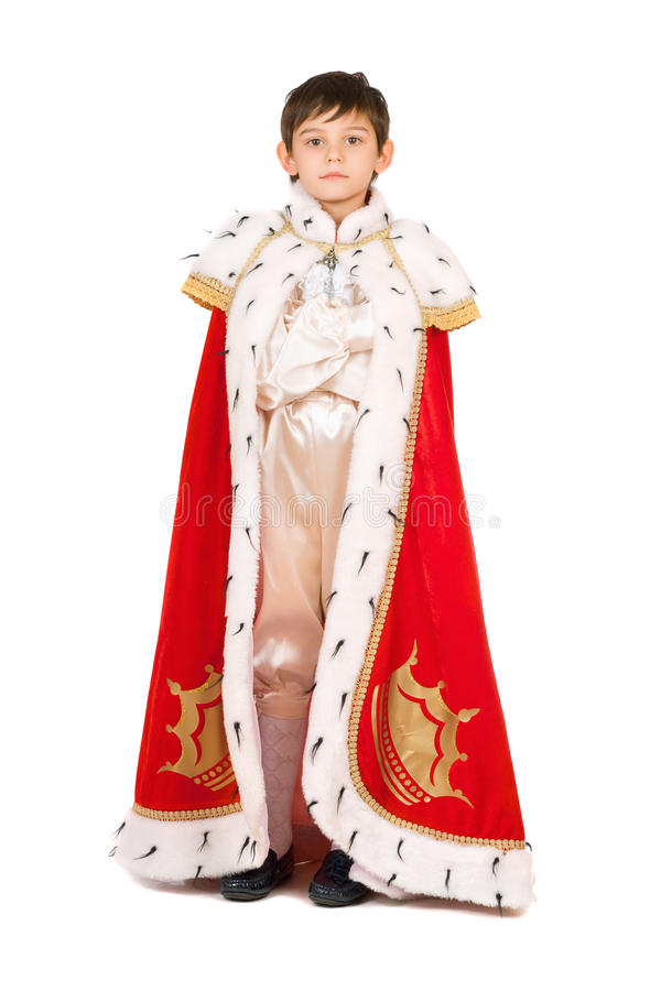 Boy dressed in a robe royalty free stock photos