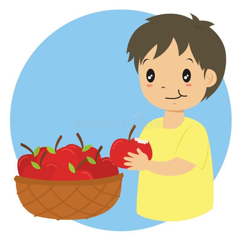 Apple Boy Eating Stock Illustrations 439 Apple Boy Eating