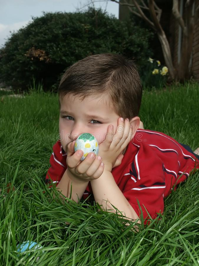 Download Boy with eggs 7 stock photo. Image of holding, decorative - 591410