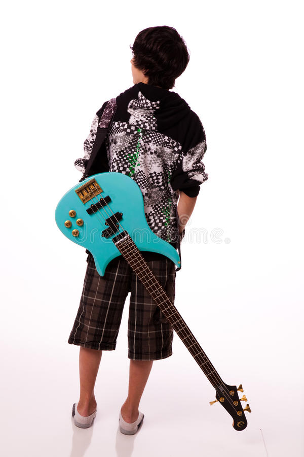 Boy With Electric Guitar Royalty Free Stock Image