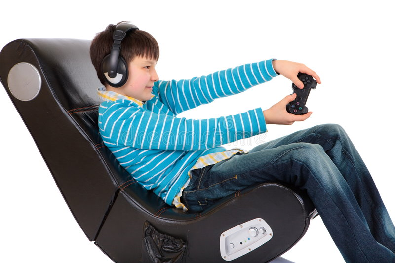 Download Boy In Ergonomic Chair Royalty Free Stock Photos - Image: 8330458