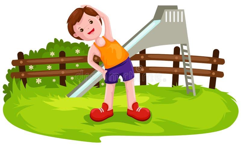 Boy exercise royalty free illustration