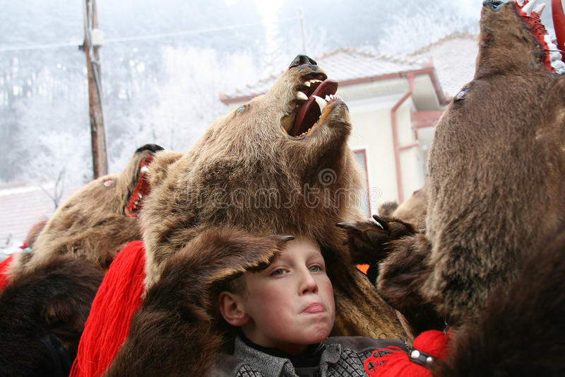 Boy expression at Bear dance parade