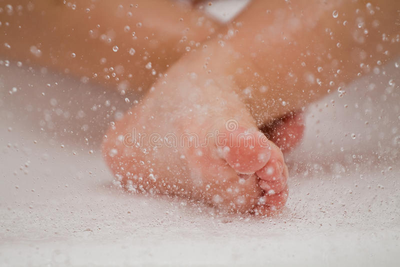 Boy Feet Stock Images