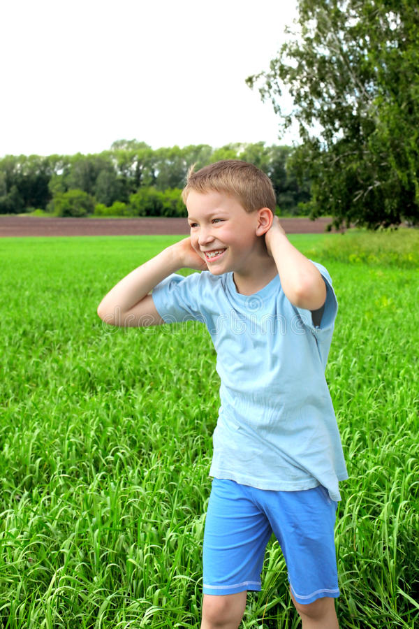 Download Boy in the field stock image. Image of nice, laughing - 20157667