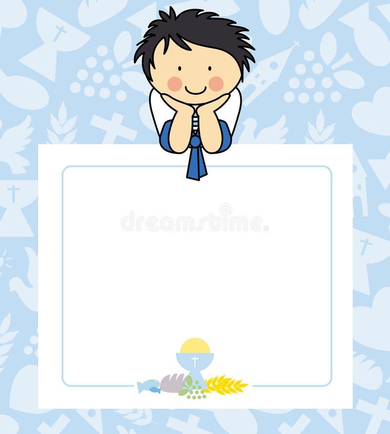 Boy first Communion stock illustration