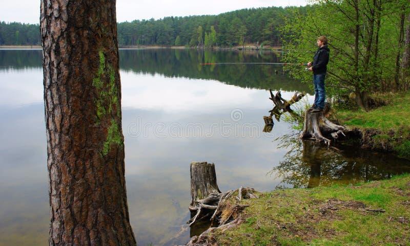 Download Boy fishing stock image. Image of summer, recreation - 19520535