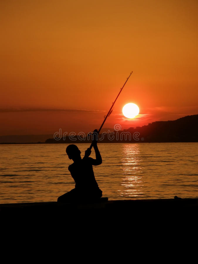 Free Boy Fishing Royalty Free Stock Photography - 19857587