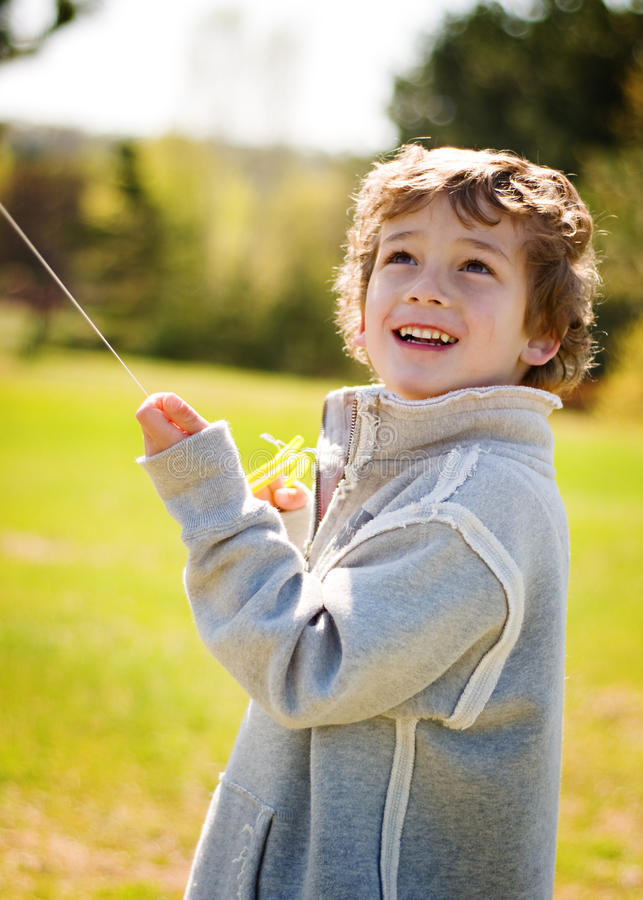 Download Boy flying a kite stock photo. Image of kite, child, activity - 10281010
