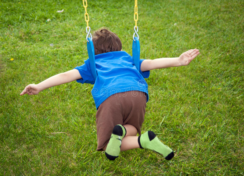 Download Boy Flying On A Swing Stock Image - Image: 14371491