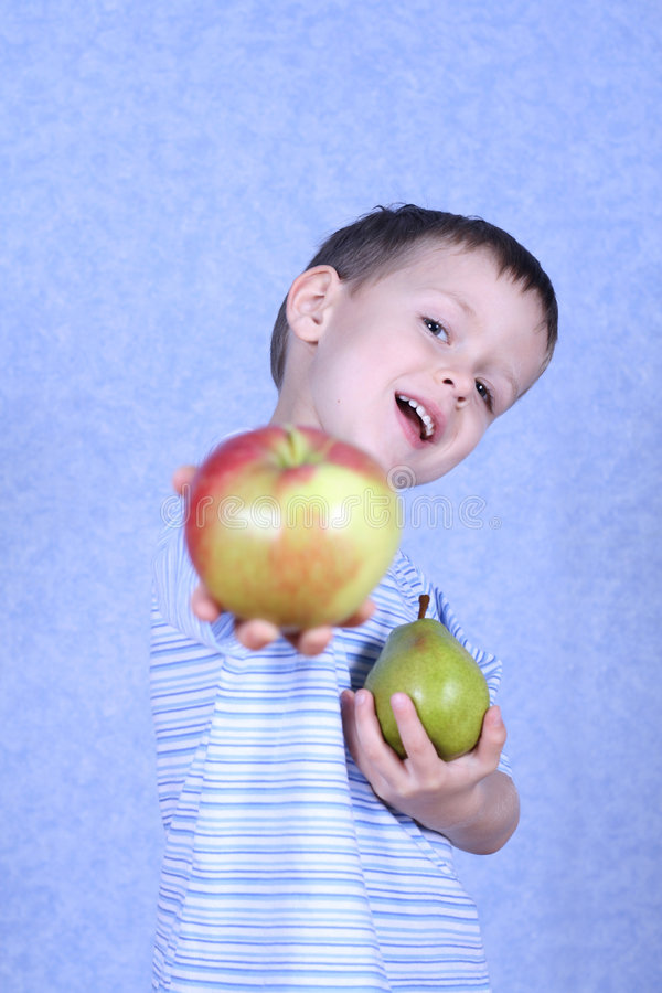 Download Boy And Fruits Stock Image - Image: 1406741