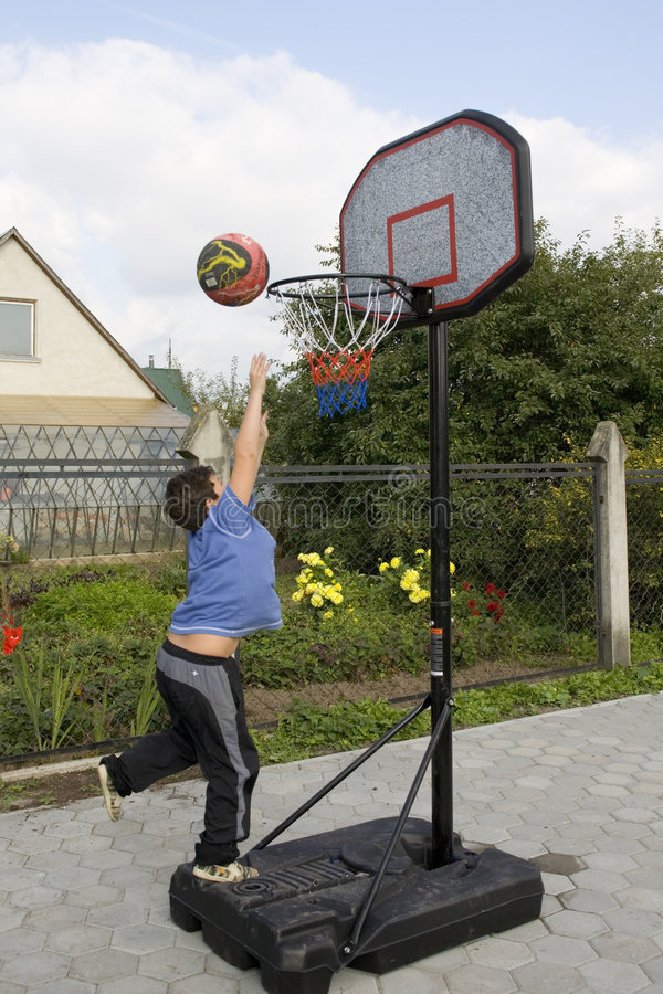 Free Boy Game Of Basketball Royalty Free Stock Image - 1304586