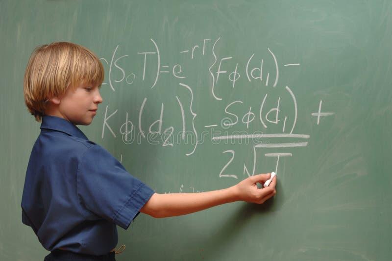 Boy Genius royalty free stock image