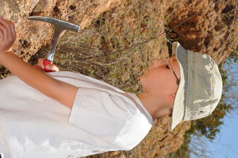Boy Geologist Stock Photos