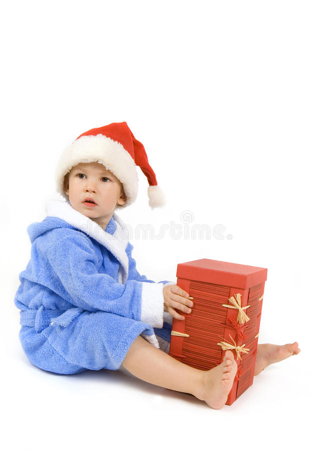 The Boy With A Gift Stock Photography