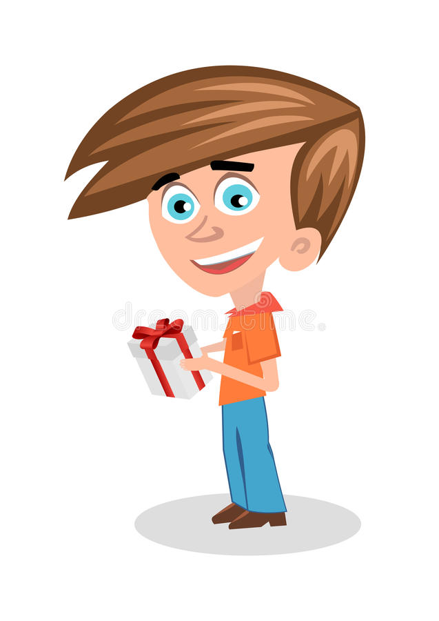 Download Boy with a gift stock vector. Illustration of birthday - 28399559