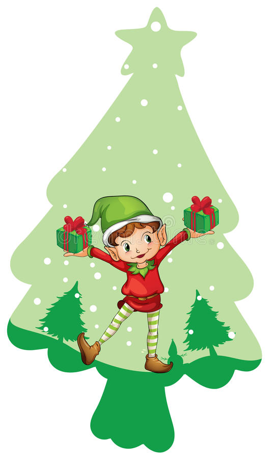 Boy with gift boxes royalty free stock images