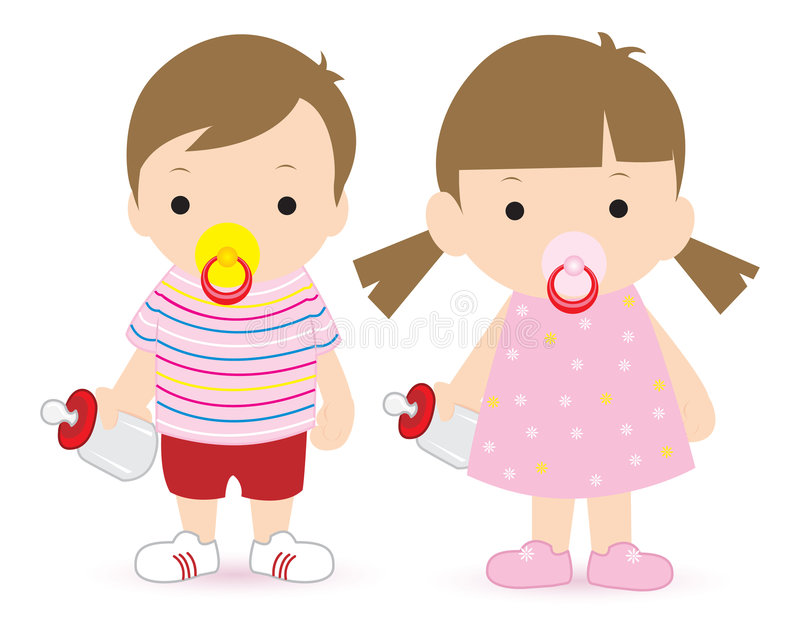 Download Boy and girl stock vector. Image of growing, kids, images - 1313373