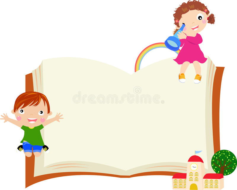 Boy and girl stock illustration