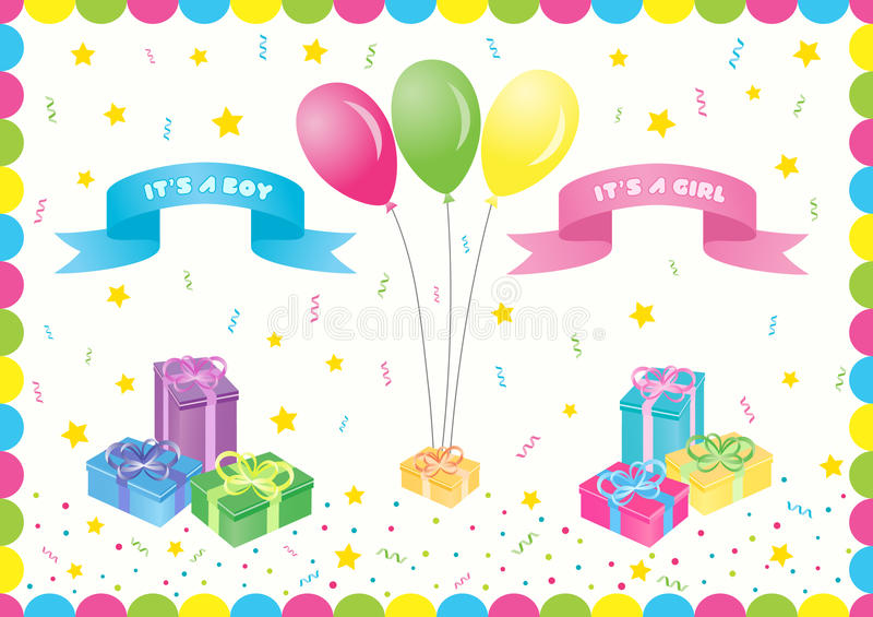 Boy and girl announcement royalty free stock photo