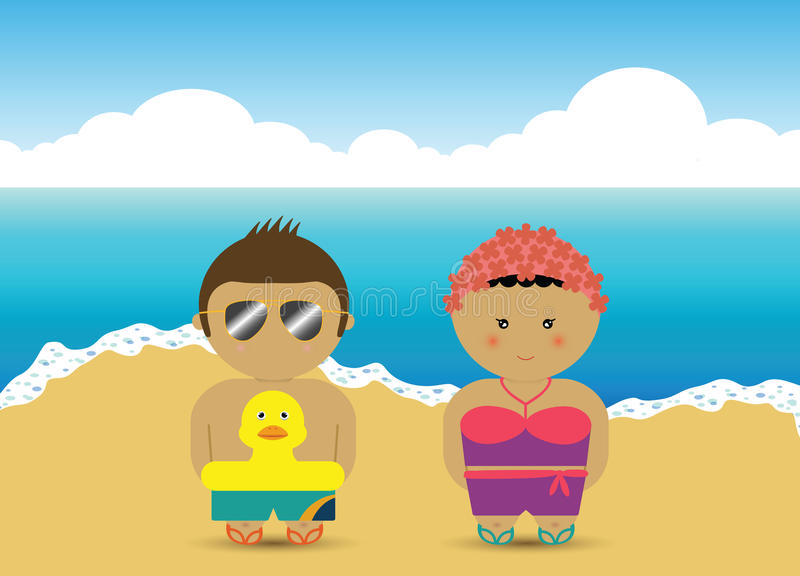Download Boy & Girl At The Beach Royalty Free Stock Photo - Image: 11144415