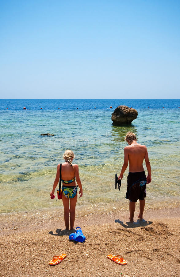 Download Boy And Girl On The Beach Royalty Free Stock Photo - Image: 16270375