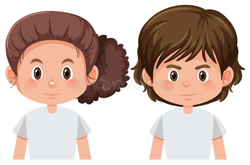 Boy and girl character. Illustration royalty free illustration