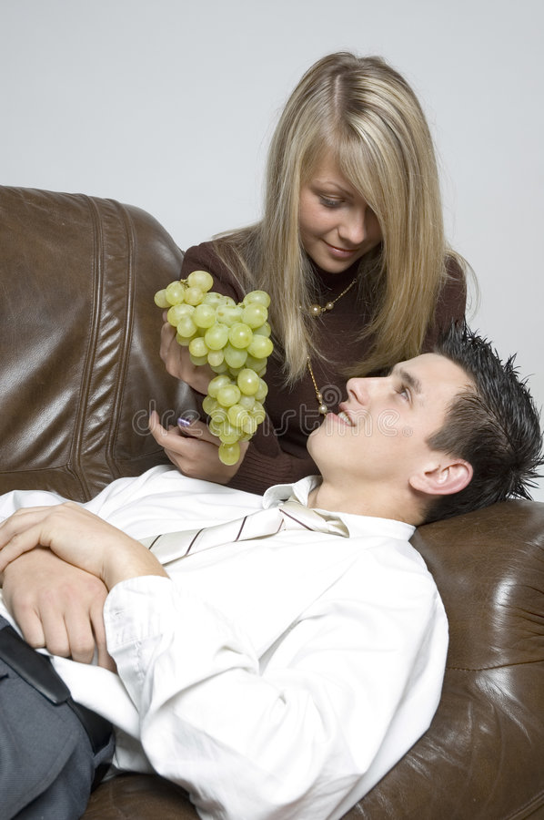 Download Boy & Girl / Cluster Of Grapes Stock Image - Image: 333333