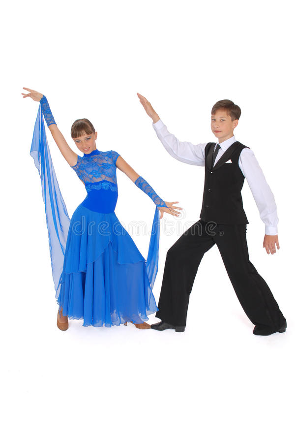 Boy And Girl Dancing Ballroom Dance Royalty Free Stock Photos