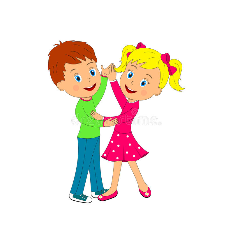 Boy And Girl Dancing Royalty Free Vector