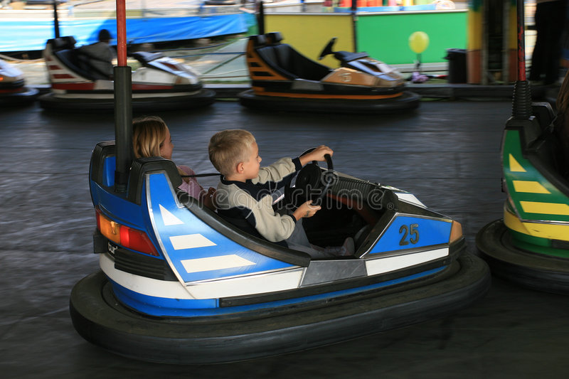 Download Boy And A Girl At The Fun Fair Stock Image - Image of together, funfair: 1415697