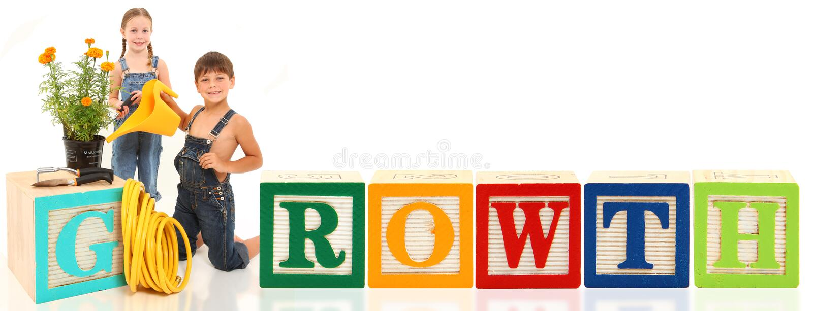 Download Boy Girl Growth stock photo. Image of block, background - 15119150