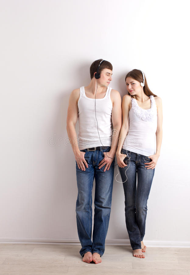Download Boy And Girl  Listening Of A Music Stock Image - Image: 28921129