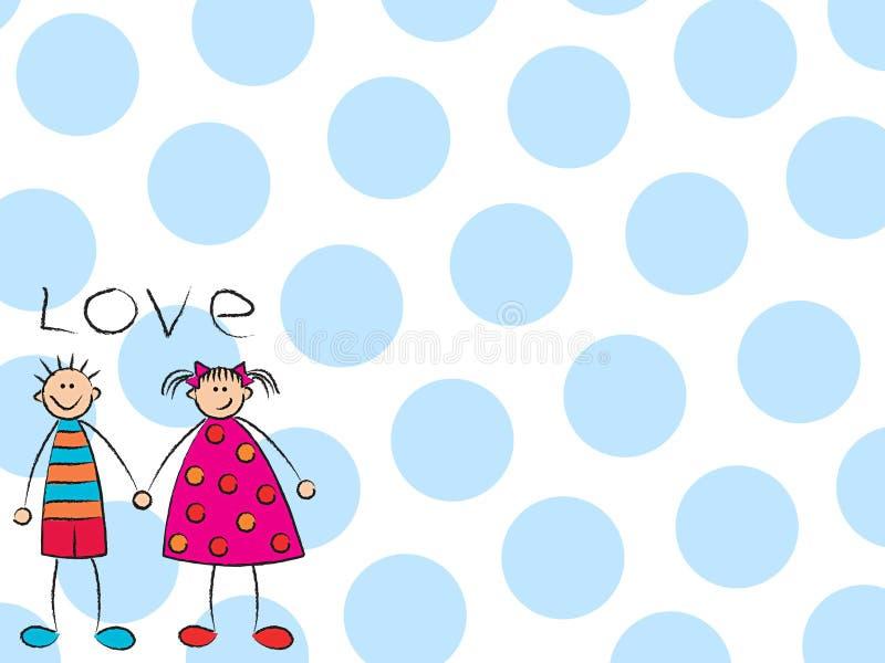 Boy + Girl = Love (blue) royalty free stock photography