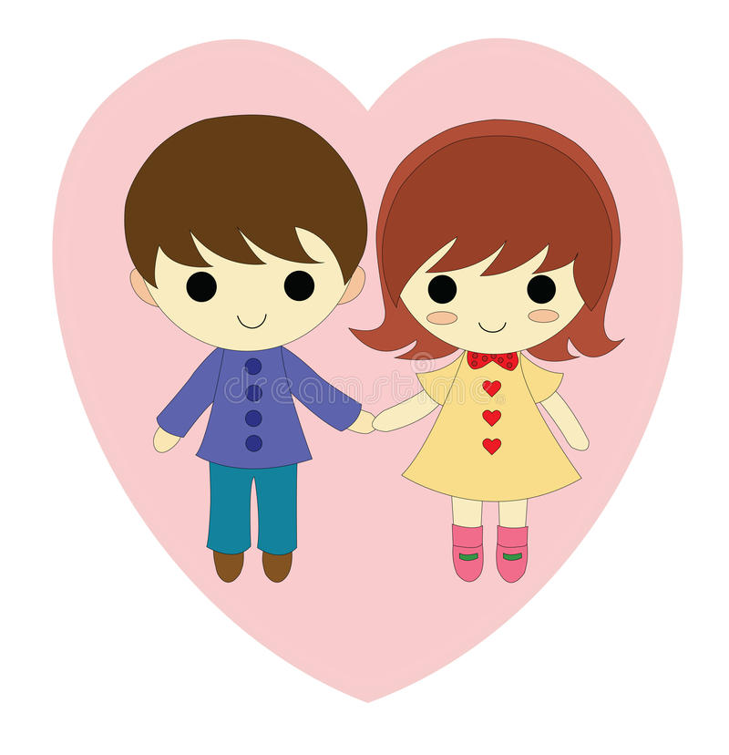 Download Boy and girl in love stock vector. Image of smile, vectorial - 49363090