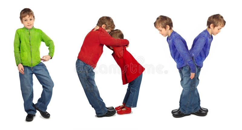 Download Boy And Girl Makind Word BOY, Collage Stock Photo - Image: 11850608