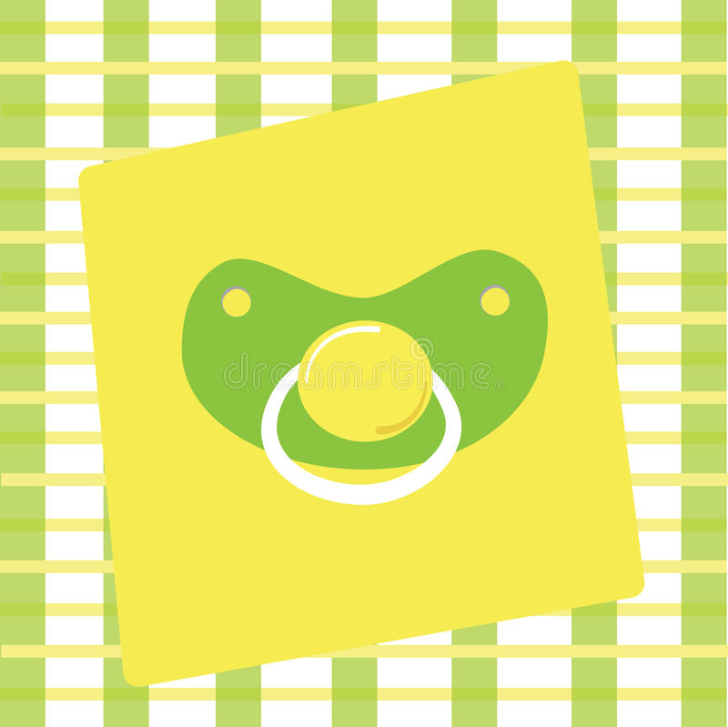 Boy Girl Pacifier. Green yellow boy girl pacifier stock illustration