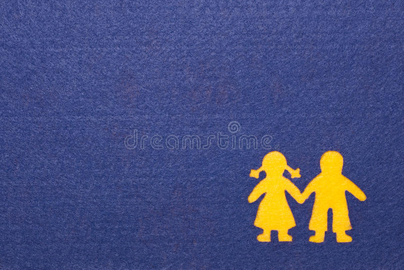 Download Boy And Girl Silhouette Card Stock Image - Image: 28562339