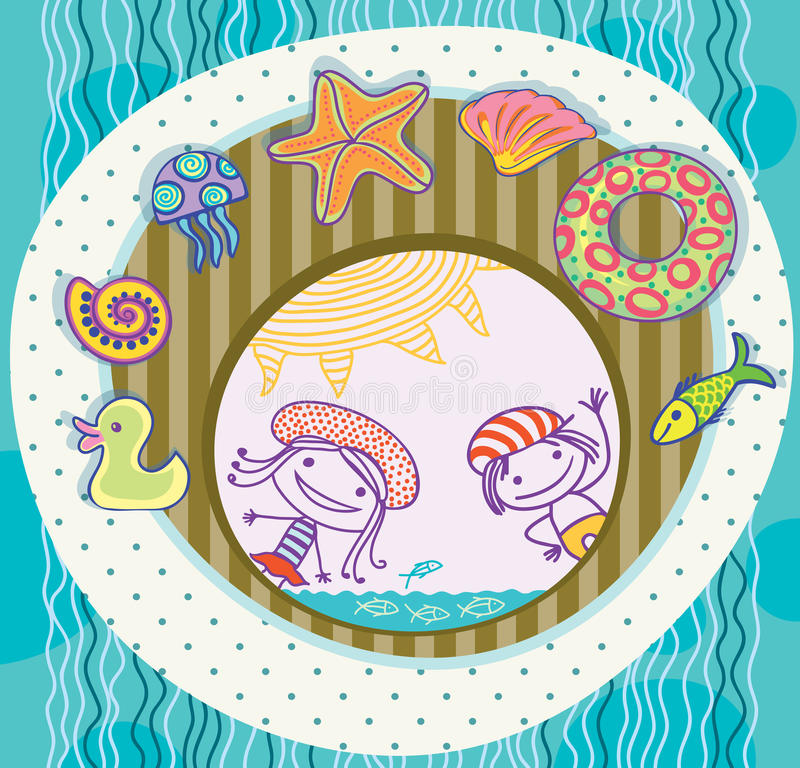 Download Boy And Girl, Surrounded By The Treasures Of The S Stock Vector - Image: 24201807