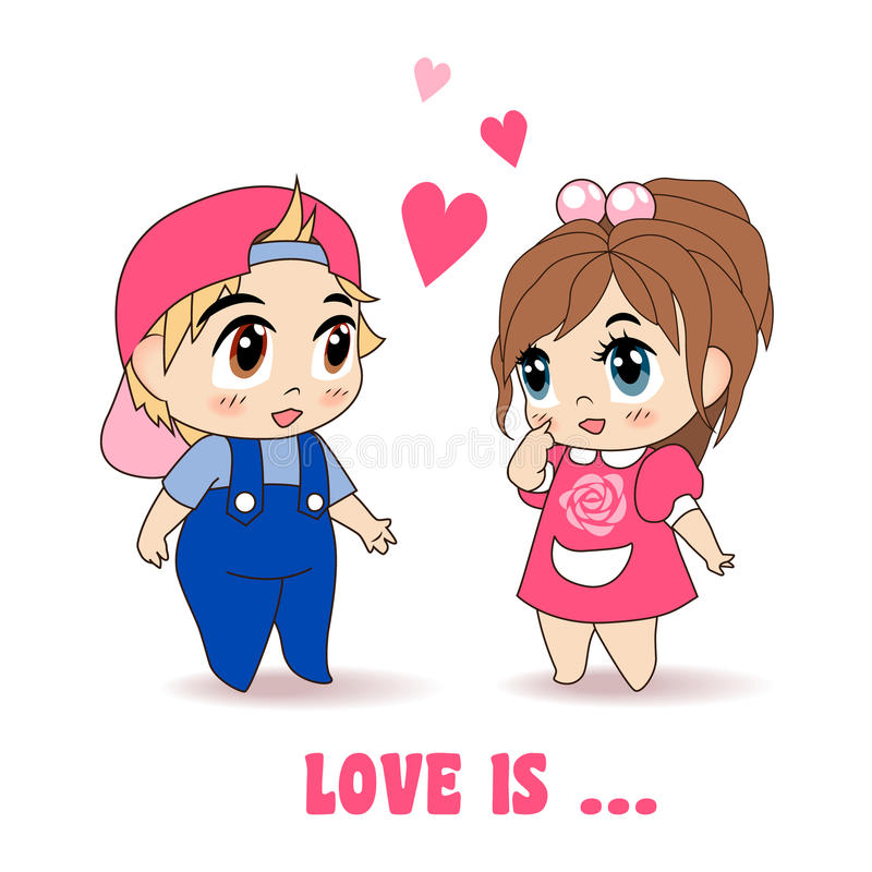 Boy And Girl, Vector Illustration royalty free illustration